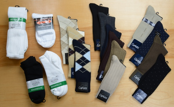Mens socks in regular, long and kingsize!