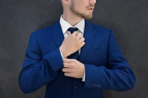 Blue mens suit