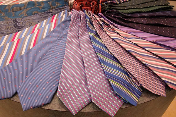 Men's bow ties and regular and tall ties