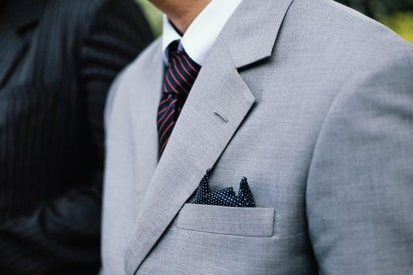 Men light grey suit-1